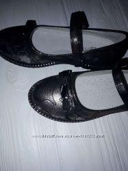 Туфли школьные серебро 30-37р.