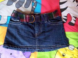 Крутая мини-юбка gap на девочку 12-18 месяцев