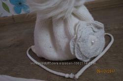 Тёплая зимняя шапочка и шарфик для девочки