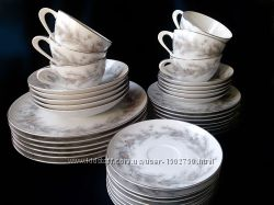 Японский фарфор старой работы Sango комплект посуды