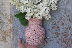 Вязаная вазочка для цветов