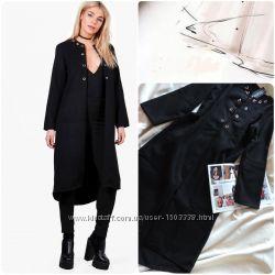 Англия пальто с удлиненной спинкой оригинал boohoo  стильне пальто