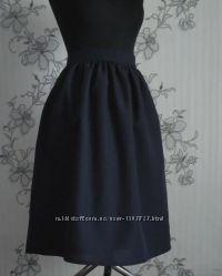 Тёмно-синяя юбка в сборку , разные размеры и цвета