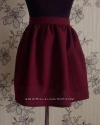 Бордовая юбка в сборку , разные размеры и цвета.