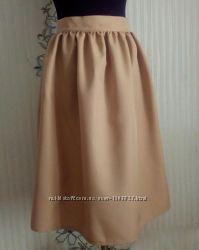 Новая бежевая юбка в сборку, разные размеры и цвета.