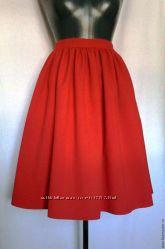 Новая красная юбка в сборку, разные размеры и цвета
