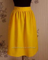 Новая жёлтая юбка в сборку, разные размеры и цвета.