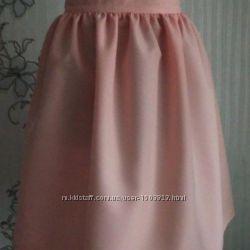 Новая пудровая, персиковая юбка в сборку, разные размеры и цвета
