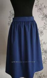 Новая юбка в сборку синий электрик с вискозной ткани, С, М, Л, ХЛ, ХС.