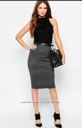 Новая графитовая трикотажная юбка на резинке, разные размеры и цвета