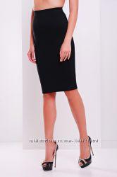 Трикотажная черная юбка на резинке, разные размеры и цвета.