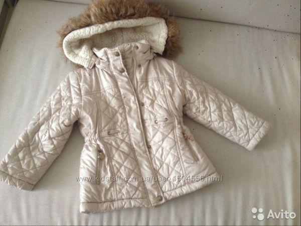 Куртка удлинённая, пальто Mayoral для девочки 4 года, 104 см.