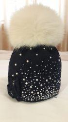 Зимняя шапка для девочки Joli bebe Италия 2, 5 - 3, 5 года.
