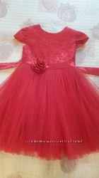 Нарядное красное детское платье Модные детки 4 года.