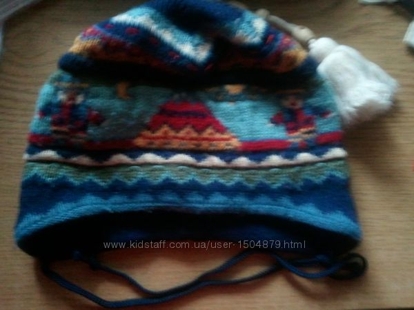 Тёплые зимние шапки для девочки и мальчика