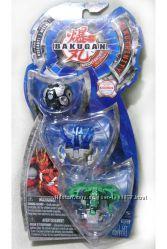 Набор игрушек Бакуган 3 шт в блистере Bakutrinity