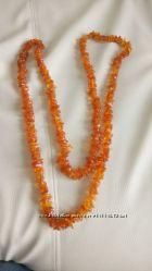Кольє ожерелье бурштин натуральний