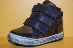 Детские демисезонные ботинки коричневые ТМ Bistfor Код 70302 размеры 26-31