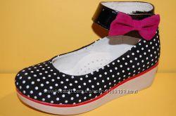 Детские кожаные туфли ТМ Bistfor код 69708 размеры 27, 28