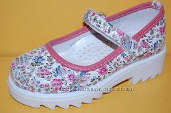 Детские кожаные туфли ТМ Bistfor код 67343р размеры 26-35