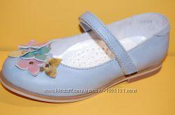 Детские кожаные туфли ТМ Bistfor код 79754г размеры 25-29
