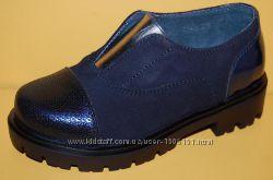 Детские замшевые туфли ТМ Bistfor код 70105 размеры 28-38