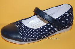 Детские кожаные туфли ТМ Bistfor код 79714С размеры 25-32