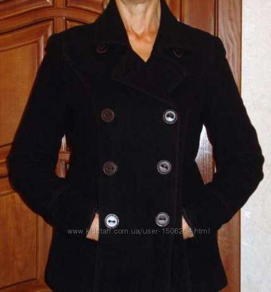 куртка черная размер 46 пальто плащ женская шерсть демисезон осенняя