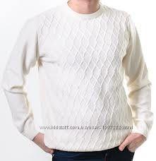 Свитер мужской SAN&FA белый , нарядный