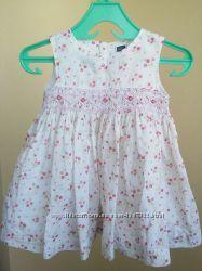 Нарядное платье, сарафан 6-12 мес 62, 68, 74.  Батист