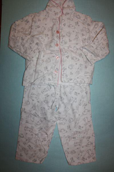 Байковая фирменная пижама на ребенка 18-24мес в отличном состоянии