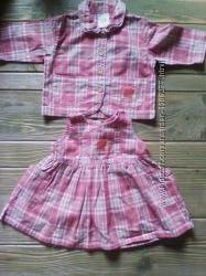 нарядный костюм для девочки 3-6 мес.
