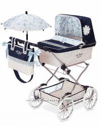 Коляска классическая с сумкой для куклы  Романтик DECUEVAS 82025