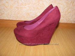 Carvela туфли 35-36р по ст 22. 5см цвет марсала бордо екозамш обуты 2 раза