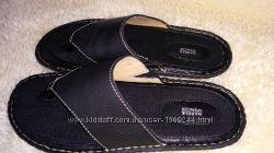 marks & spencer шлепки кожа 40-41 р по ст 26 см ширина 9 см взуті 2 рази