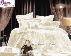 Полуторный Комплект постельного белья Word of Dream Жаккард с вышивкой