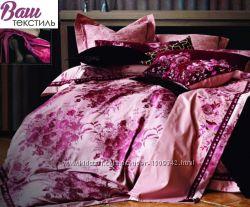 Семейный Комплект постельного белья Word of Dream Жаккард с вышивкой