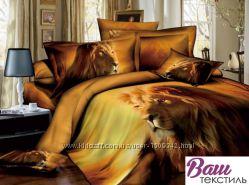 Двуспальный евро сатиновый комплект постельного белья WORD of  DREAM