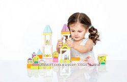 Cubika Детский деревянный эко конструктор Город для девочек, 55 дет. ,кубики