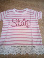 Літня футболка для дівчинки англійської фірми Young Dimension, 1-1, 5 роки