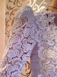Нежное, женственное платье из итальянского кружева свадебное платье