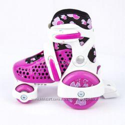 Раздвижные роликовые коньки Explore KINDER QUAD 26-30 Розовые