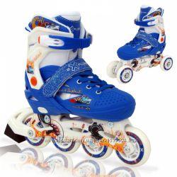 Раздвижные роликовые коньки LENEXA Explore синие 34-37 32-35