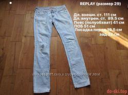 Брендовые джинсы Replay 100 оригинал.