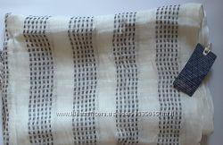 Брендовый шарф лён с вискозой, scotch&soda, нидерланды , 200х80
