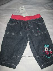 Новые  джинсы  на 3-6 мес. Disney, на девочку