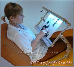 Станок для вышивания с подсветкой, универсальный 3в1 Стандарт