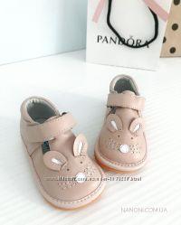 кожаные туфельки Caroch розовые и голубые, 20-25 размер