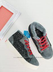 замшевые теплые кроссовки от Little blue lamb, стелька - 18, 6 см и 20, 5см