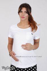 Хлопковая базовая футболка для беременных SOLO в 2 цветах